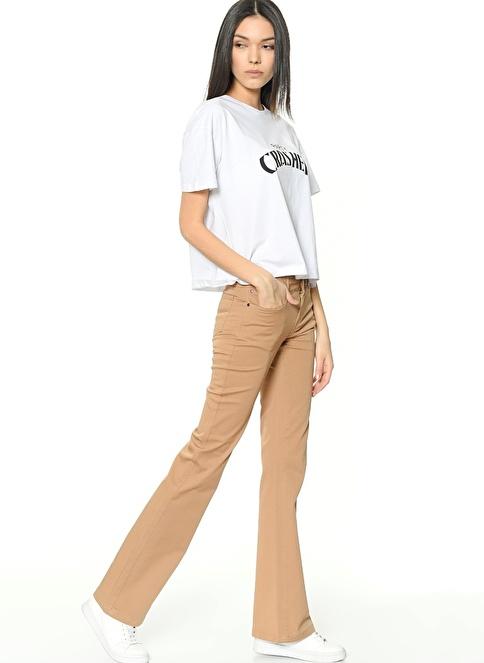 Lee Cooper Pantolon | Kate Slim Flared Taba